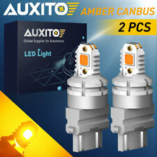 2x AUXITO 3156 3157 3757A 4157 Yellow Amber Turn Signal LED Light Bulbs Canbus A