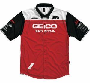 100% Men's Geico Honda Blitz Pit Shirt M Red 33903-003-11