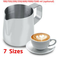 Stainless Steel Coffee Frothing Milk Latte Jug Coffee Foam Cup Pitcher 4 Sizes