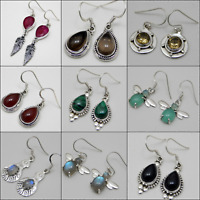 DESIGNER HANDMADE EARRING IN DIFFERENT STONE ONLY IN 925 SOLID STERLING SILVER