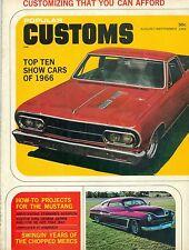POPULAR CUSTOMS AUGUST/SEPTEMBER 1966, TOP TEN SHOW CAR OF 1966, BLUE PEARL