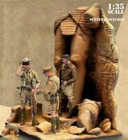 1/35 Scale WWII British Soldiers Desert Rats Africa WW2 Figures Resin Model Kit