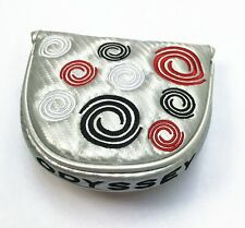 Silver Odyssey Golf Swirl Magnetic Closure Mallet Putter Headcover Covers UK