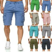 Mens Multi Pocket Cargo Shorts Combat Chino Half Pants 100% Cotton Work 30-46