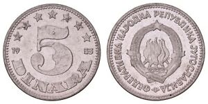 K.771} YUGOSLAVIA 5 dinara 1953 XF+