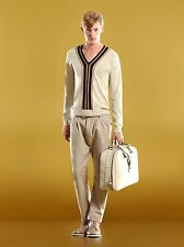$510 NEW Authentic Gucci Over Pants w/Logo, Khaki, EU 50/US 34, 286255