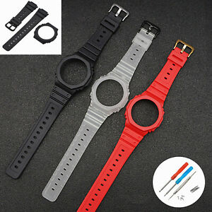 Watch Strap Resin Band Watch Case Replacement for Cas io GA-2100 2110 Watch Part