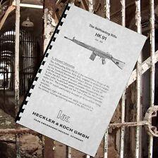 HECKLER & KOCH HK 91 Selfloading RIFLE Owners Manual Cal .308