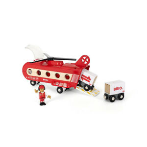 Brio 33886 Railway Transport Helicopter for Wooden Railway New! #