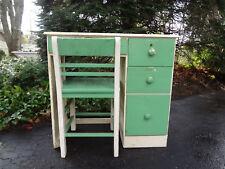 Antique Mid Century 1950 Childs Student School Desk Wood Drawers Dresser & Chair