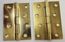 """Electro Brass Large Butt Hinge 4"""" x 3"""" 100mm x 70mm One Pair"""