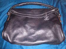 Women's  Chanel Black Soft Pebbled Genuine Leather Shoulder Bag Preowned