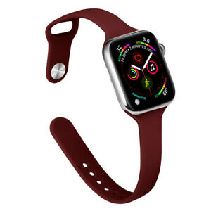 Slim Silicone iWatch Band Women Strap for Apple Watch Series 6 5 4 3 SE 40/44mm