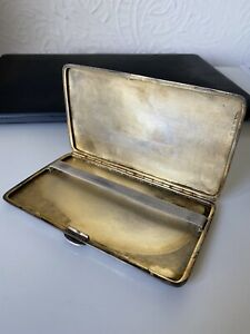 Vintage Antique Cigarette Case Sterling Silver Birmingham 1931 20th Century