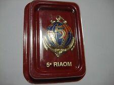 French Army 5e Régiment Inter-Armes d'Outre-Mer (5e RIAOM) Metal Badge + Box