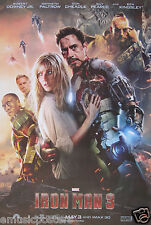"""IRON MAN 3 """"CAST OF CHARACTERS"""" POSTER-Robert Downey Jr, Gwyneth Paltrow,Cheadle"""