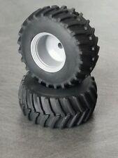 1/64 Farm custom scratch 800/70R38 tractor tires gray rims (1 pair)