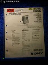 Sony Service Manual TMC 20DV /21DV /22DV /23DV Cassette Corder  (#4093)