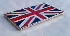Union Jack Esmaltada en acero de cromo, base Insignia Nueva