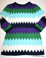 BABY GAP Zig Zag Sweater Dress Girl Size 4 Precious Boutique Clothes