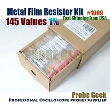 145  Values Total 1450pcs 1% 1/4W Metal Film Resistor Assortment Box Kit #1009