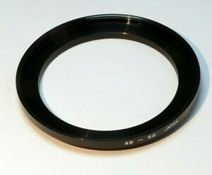 49mm to 58mm Step-up ring Metal adapter double threaded for lens filter
