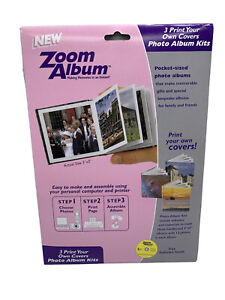 ZOOM PHOTO ALBUM KIT w/CD MAKES 3 HARDBOUND ALBUMS FREE SOFTWARE INSIDE
