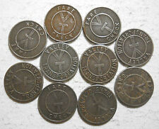 Lot of 10 Valley Transportation (Lemoyne, Pennsylvania) transit tokens  PA565E