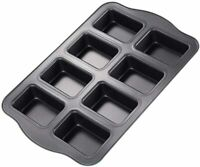 Mini Loaf Pan, 8-Cavity Non-Stick Muffin Pan ,Carbon Steel Brownie Bakeware