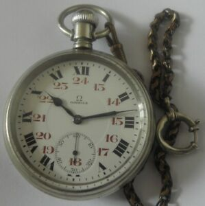 VERY RARE-OMEGA 15jewels SWISS POCKET WATCH MEN,S