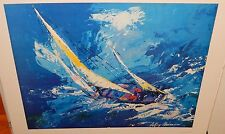 "LEROY NEIMAN ""SAILING YACTH"" 1978 LARGE COLOR LITHOGRAPH ROLL IN TUBE"