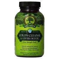 Well Roots Colon Cleanse - Liver Detox Fast-Acting Liquid Softgels 60 ea