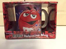 M&M's RED Ceramic Valentines Mug Sealed & Boxed 2007 MINT VHTF