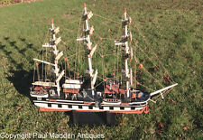 Vintage Folk Made Whaleship Model Charles W. Morgan