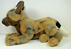 Save Our Space African Wild Dog Blue Eyes Rare Stuffed Plush Toy