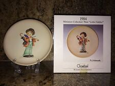 "Mj Hummel 1984 ""Little Fiddler"" Little Music Makers 1st Edition Goebel 4"" plate"