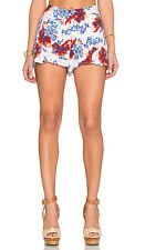 New $78 Authentic FREE PEOPLE Women's Beige Printed Flutter Shorts  (Size 4)