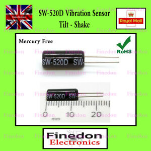 2 x SW-520D Vibration Sensor Metal Ball Tilt Switch UK Seller