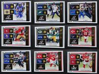 2020 Donruss Road to the Super Bowl Football Cards Complete Your Set U Pick