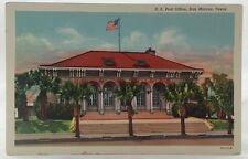 Vintage Postcard U.S. Post Office San Marcos Texas TX PC