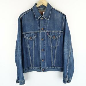 LEVIS Vintage red tab denim trucker jacket 70500 SIZE Medium Large (E3271)