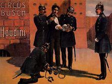 Art Imprimé Poster publicité culture événement escapology Harry Houdini nofl1595