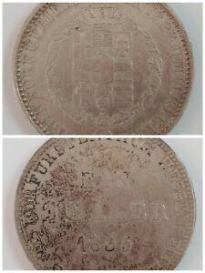 1835 Taler Coin German States Deutschland Hesse-Cassel - 6 Einen Silver Thaler