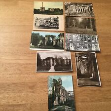 Vintage postcards 1905 Abbeys Fountains Syon Nelley Romsey Glastonbury Cowdray
