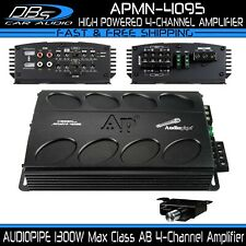 AUDIOPIPE APMN-4095 Mini 4 Channel Car Motorcycle Amplifier 1300W 4CH Micro Amp