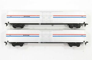 HO Con-Cor 2 Amtrak 60ft Material Handling Box Cars Diff Road Numbers