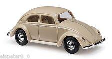 Busch 42713 VW ESCARABAJO CON VENTANA Pretzel beige, H0 modelo de coche 1:87