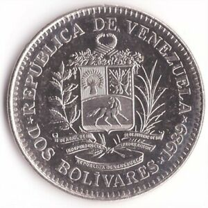 2 Bolivares 1989 Venezuela Coin Y#43a.1