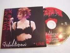 CD SINGLE DE MYLENE FARMER , DESHABILLEZ - MOI LIVE  . TRES BON ETAT .