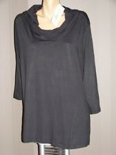 AUTOGRAPH Size 20 LONG Black Cowl Neck TOP NEW rrp$39.99 3/4Slv gr8 for layering